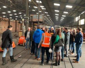 bezoek circulaire steenfabriek met klanten
